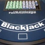 Table de jeu Blackjack