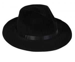 Chapeau Gangster Noir feutré